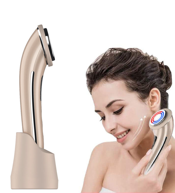 The new 2020 Skin lifting tightening massager pink beauty machine tenses clean face Essence face pore exportation instrument
