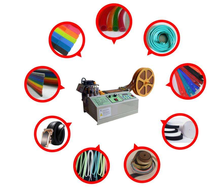 surgical face mask ear loop textile braid band tape nylon rope cutting cutter machine for sale