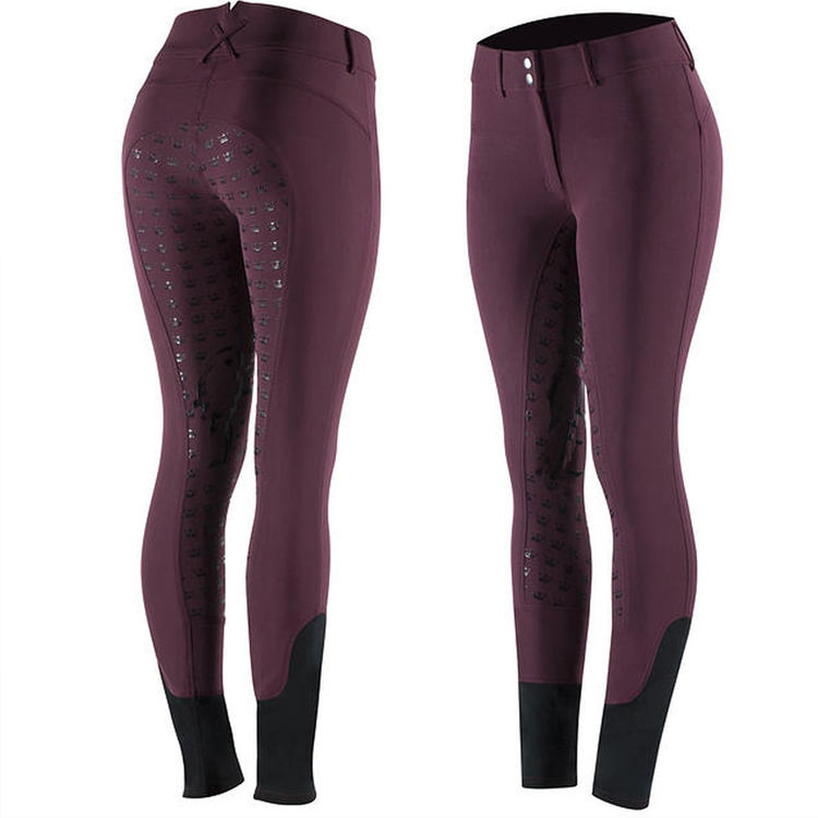 Wholesale Equestrian Clothing Full Seat Silicone Horse Riding Pants Leggings Women Sports Breeches