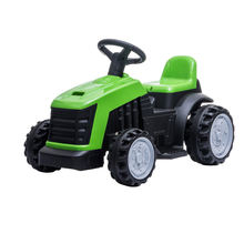 children play farm tractor with battery, kids ride on car, electric powered tractor