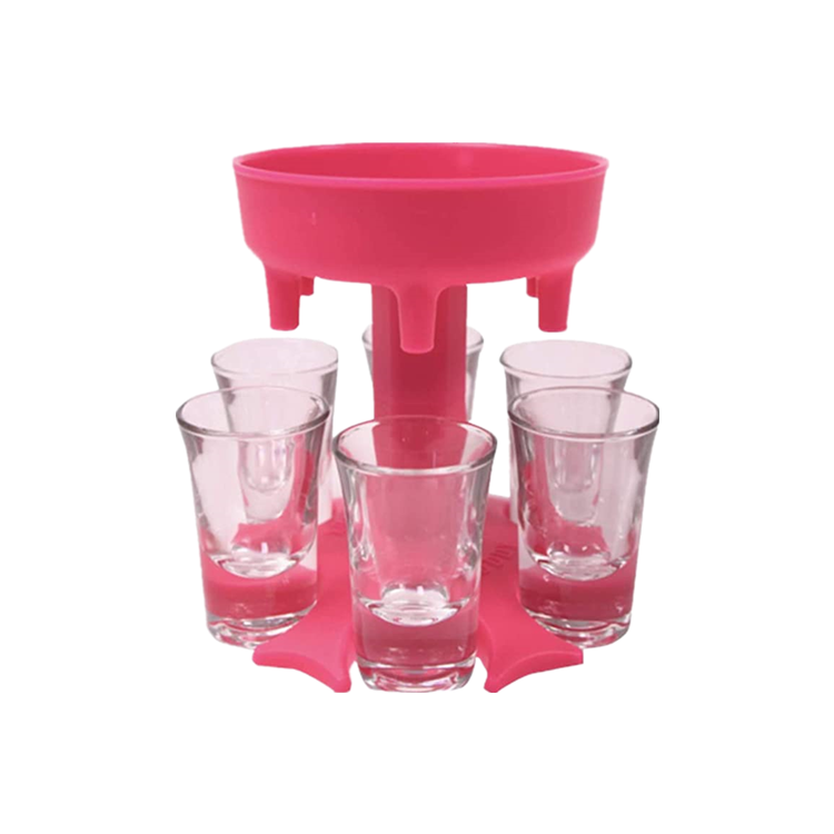 6 Shot Glass Dispenser Hot Sale Shot Liquid Dispenser 6 Shot Glass Water Juice Drink Dispenser 6 Shot Glass Dispenser