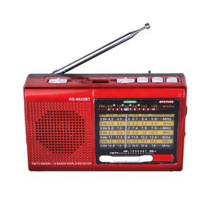 KR-6622BT blueteeth fm am sw1-7 9 bandas rádio com speaker mp3 player