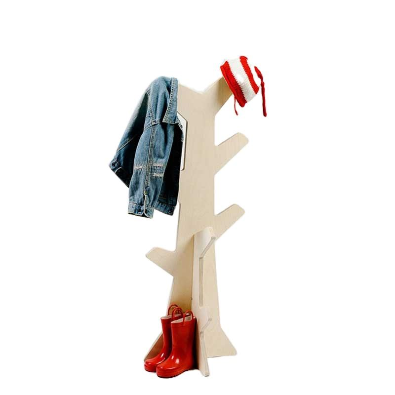 Cute Kids Furniture Design Wooden Coat Stand for Little Kids Plywood Cactus Coat Stand