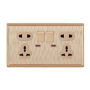2*5 Pin MF Neon Wall Switched Socket With 2 Usb Port