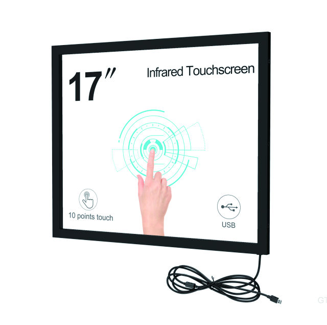 17inch IR touch screen frame TK series Top of 10points High Quality IR Touch Frame for LCD/TV infrared touch screen