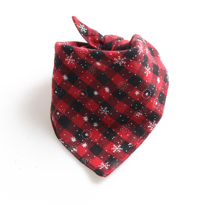 Christmas Hot Selling New Plaid 100% Cotton Luxury Custom Print Logo Wholesale Dog Bandana