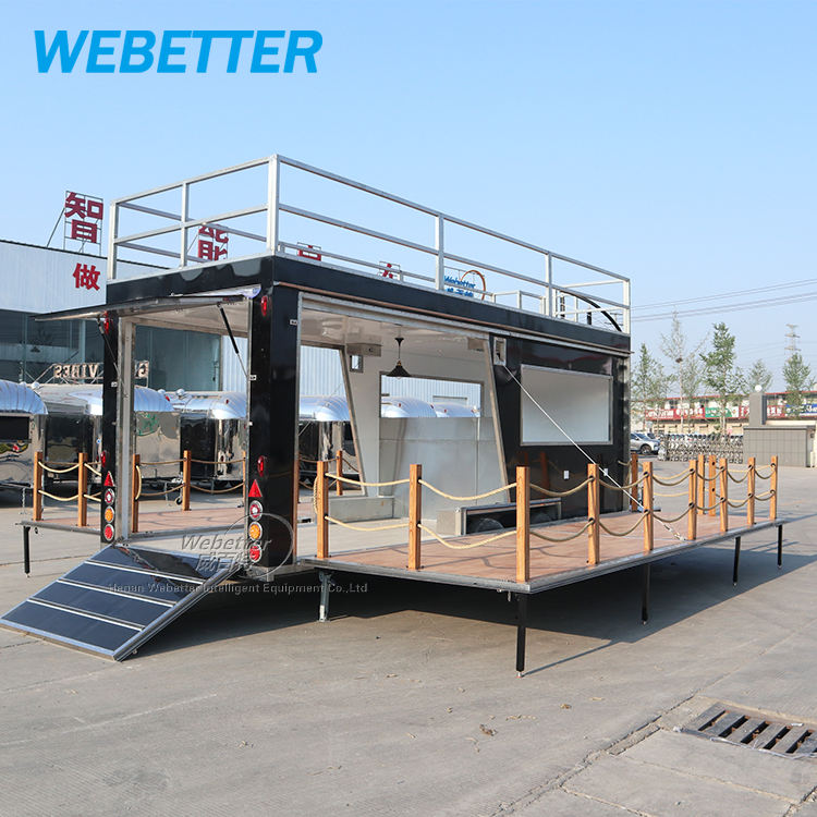 Customized high quality mobile catering trailer two story food truck
