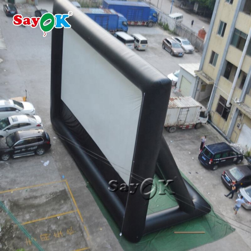 Outdoor Inflatable Projection Screen Air Blow Up Portable Inflatable Movie Screen Drive In Movie Screens For Sale