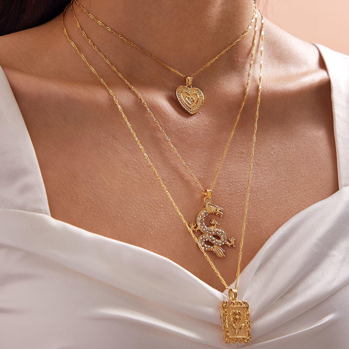 Multiple styles neck lace gold sliver color fashion accessories for girl women spring