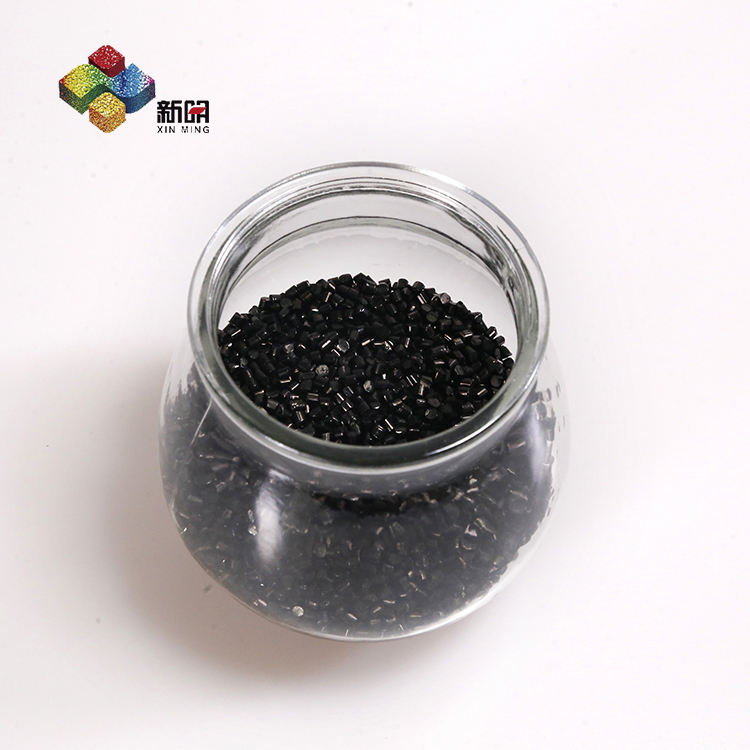 Virgin PE resin carrier Black colorants/Black granule pellets/10%-50% Carbon black masterbatch for pipes and blowing films