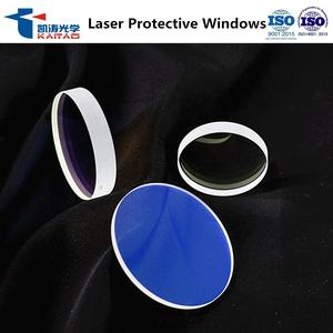 D34*5.0mm laser machine lens / 1064nm AR coated laser protective window for 0-6000w Fiber laser cutting machine