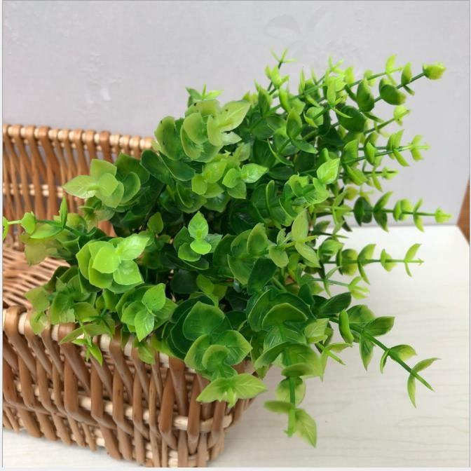 Wedding Vase Decoration Money Leaves Artificial Eucalyptus Leaves