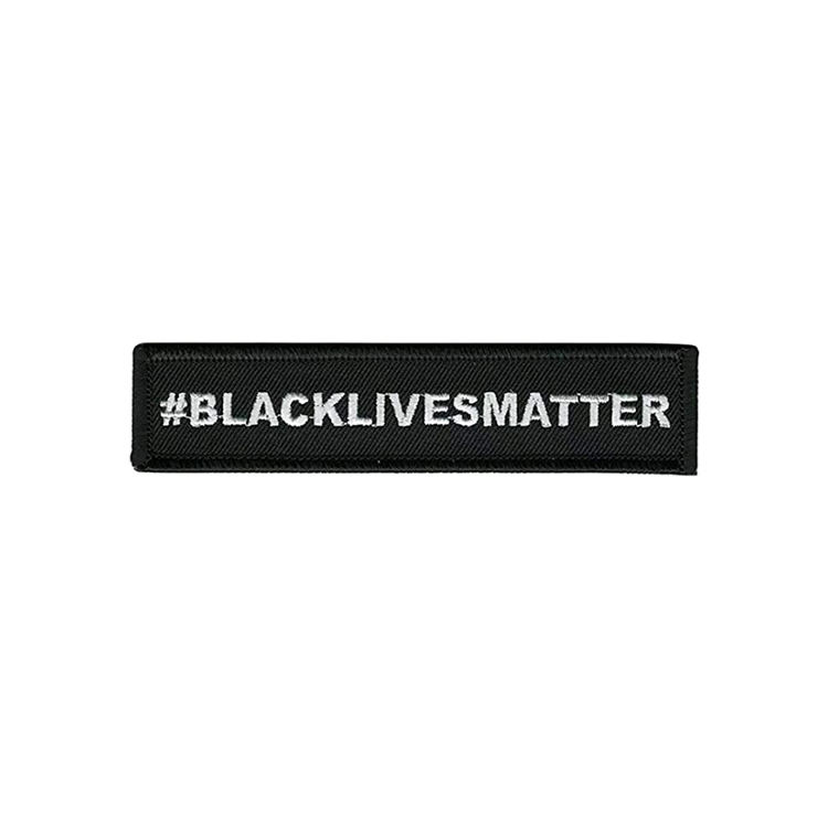 Professional OEM Black Lives Matter Nature Embroidery Patch Custom With Free Sample
