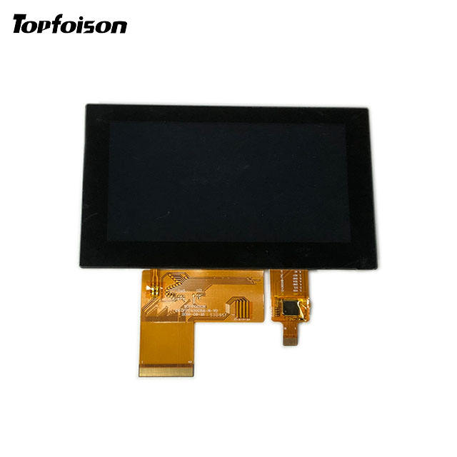 Topfoison 4.3 inch TFT LCD display 480x272 horizontal IPS touch module with LED backlight