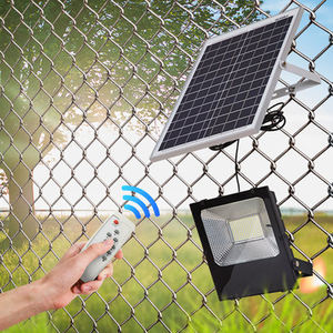 Garden Rechargeable Fence Road Wall Flood Light Driver Outdoor Led Powered 150W Heat Hanging Solar Lamp Post