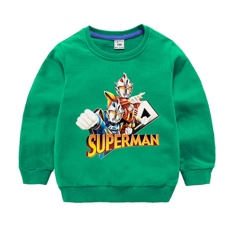 Altman Diga Spring And Autumn Casual Pullover Cotton Sweater Children's Sports Cartoon Print Fashion Top