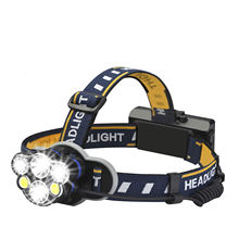 Best Cob Led High Power Headlamp, Rechargeable Waterproof Hunting Headlight Head Flashlight Lampe Frontale Torch Led Headlamp