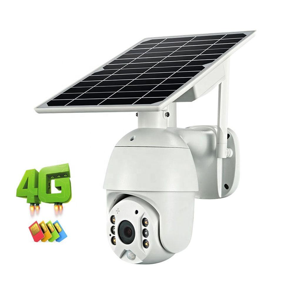 S10 Solar PTZ Camera 4G Outdoor Wireless Powered IR IP 1080p Battery Water-proof Dome Cameras