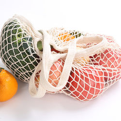 Foldable Reusable Washable Fruit and Veggies Mesh Grocery Bags