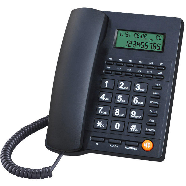 Quality cost-effective caller ID new two-line promotional telephone with weatherproof