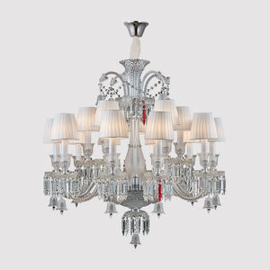 Luxury Living Room Candle Holders Pendant Lamp Glass Arms K9 Crystal Chandelier Wholesale