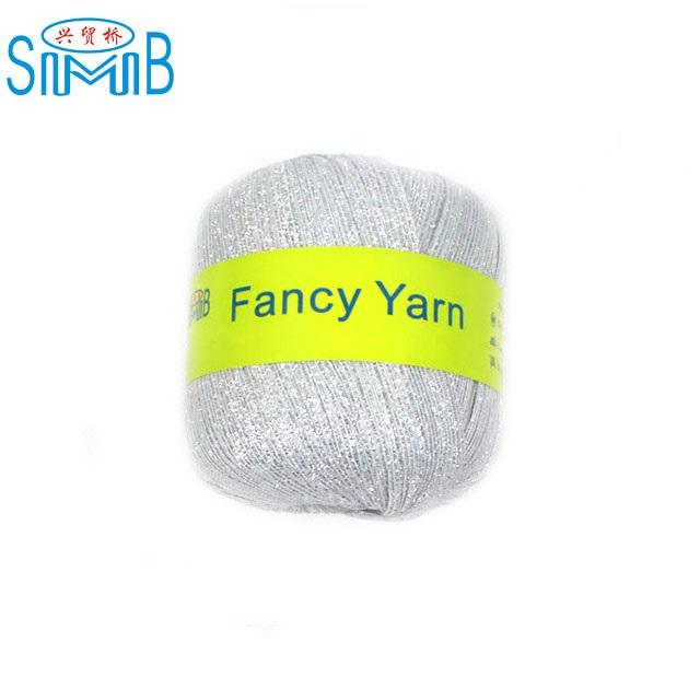 FY-TR2511 china fancy ribbon yarn factory smb popular wholesale silver lurex crochet yarn for hand knitting
