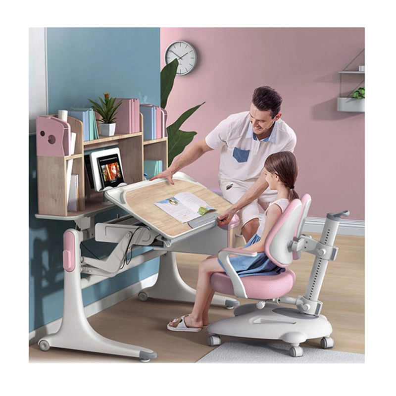 New Product 2020 Ergonomic Kids Study Table and Desk, OEM Kids Study Table And Chair With Bookshelf/