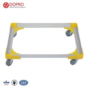 Lightweight stackable aluminium alloy moving dolly plastic dolly with 4 wheels for material handling
