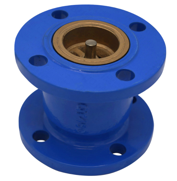TKFM factory directly sales ductile iron brass core flange Muffle check valve dn 100