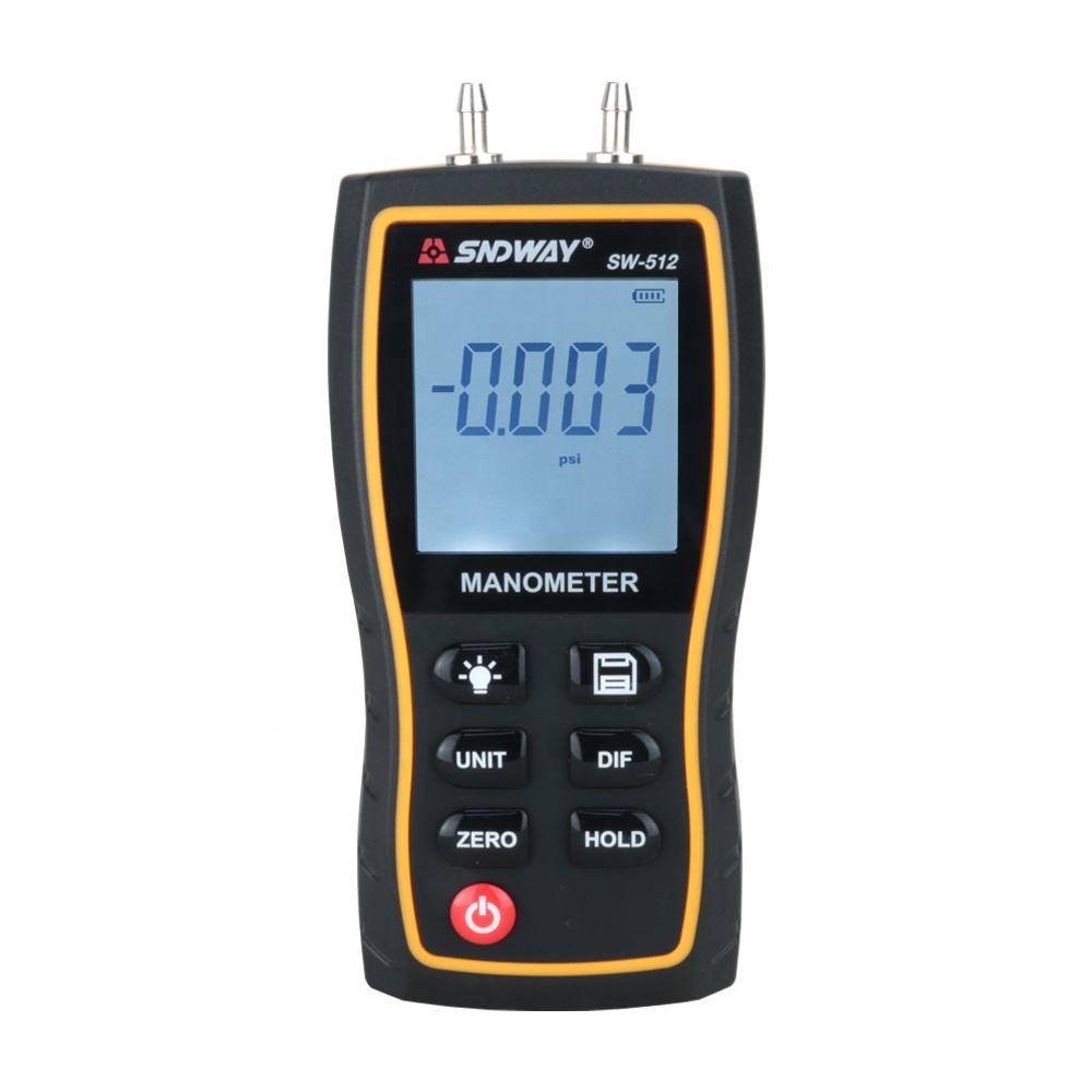 SNDWAY Portable LCD Display Digital Differential Manometer Air pressure Gauges Meter