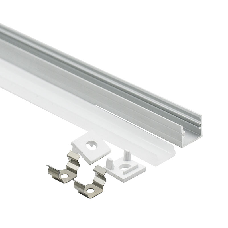 12x12 12mm led profile led aluminum corner channel with diffuser PC cover