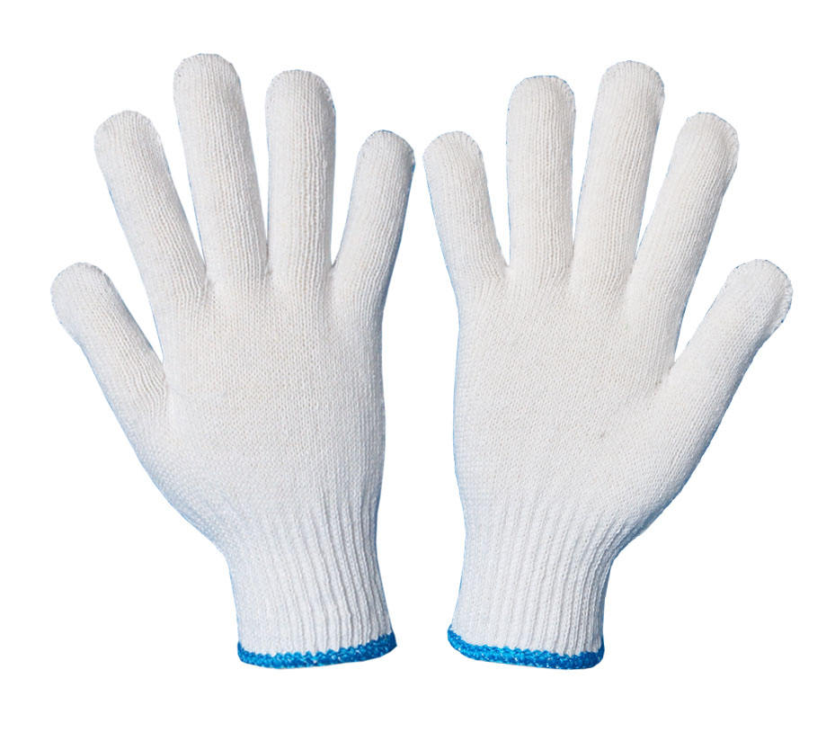 cotton knitted work glove