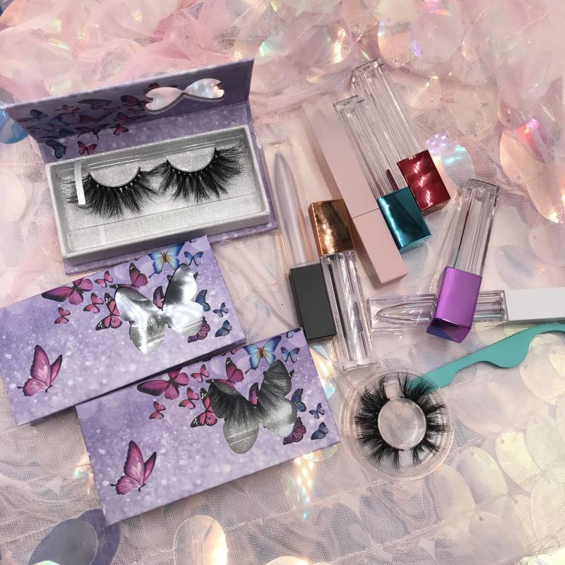 Wholesale rodan field lash boost 25mm 3D Mink Eyelashes with Lipgloss Tube Containers and Nail Brushes Lash Wands