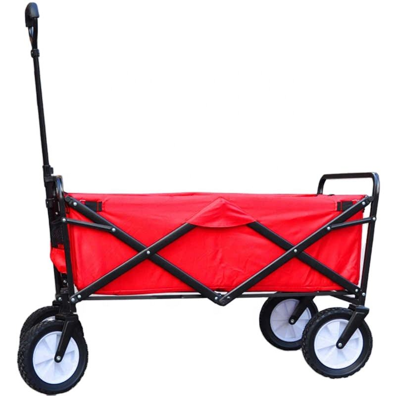 Collapsible Folding Outdoor Utility Wagon beach trolley for champing use