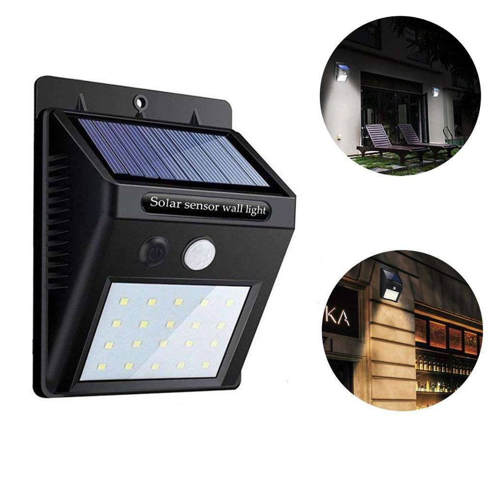 Waterproof 20 led Solar Powered Wall Mounted Light,PIR Motion Sensor 20LED Solar Led Wall Lamp For Outdoor wall
