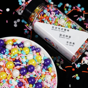 Wholesale Hot Party Baking Supplies New Sugars Candy Edible Sugar Sprinkles Bottle Package easy to store