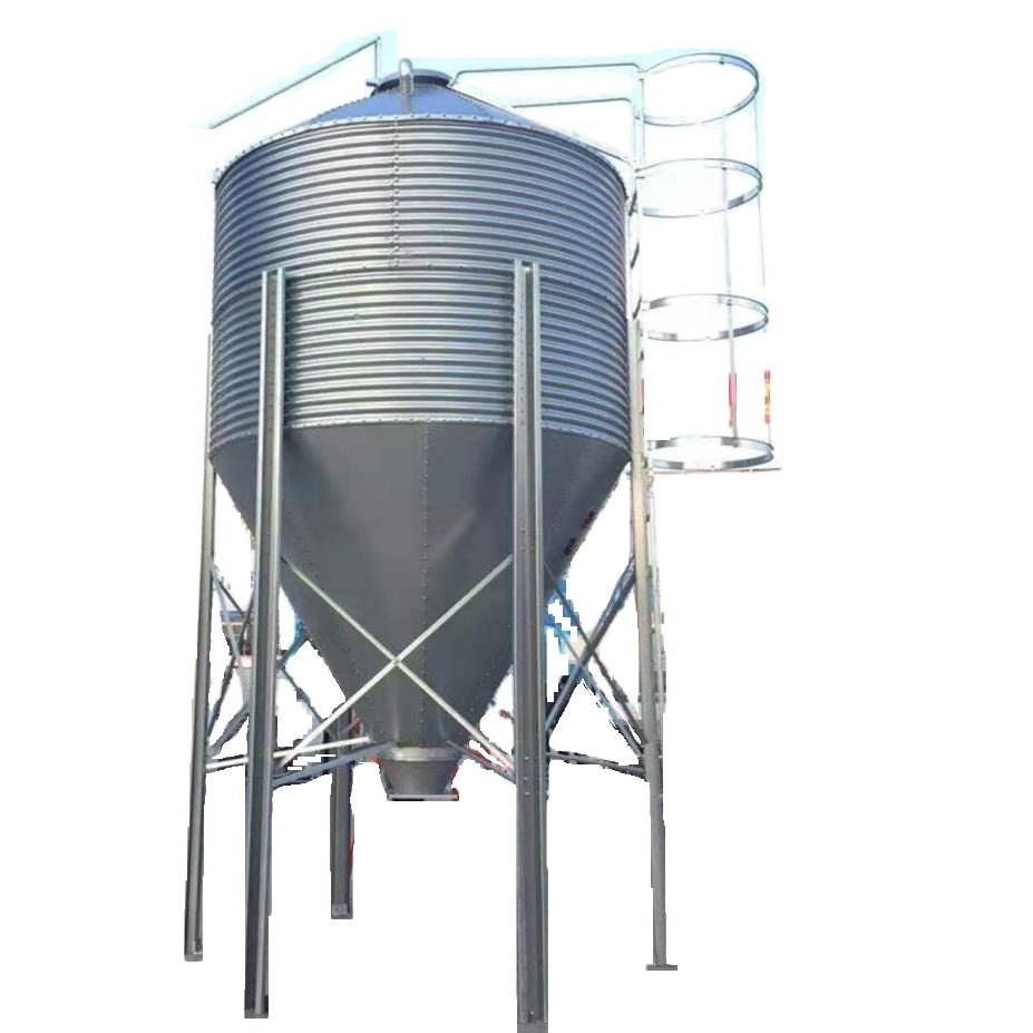 Quality Poultry farm Equipment Silo for broiler house feeding and drinking line chicken raising breeder cage