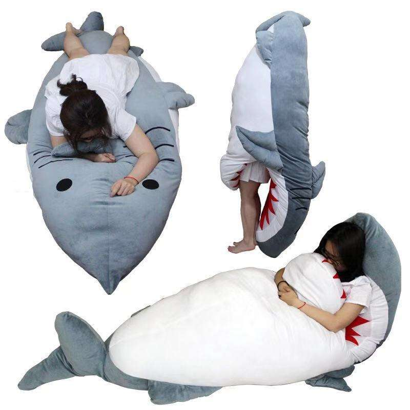 Giant Huge Shark Stuffed Plush Dakimakura Hugging Body Pillow Sleeping Bag Gifts
