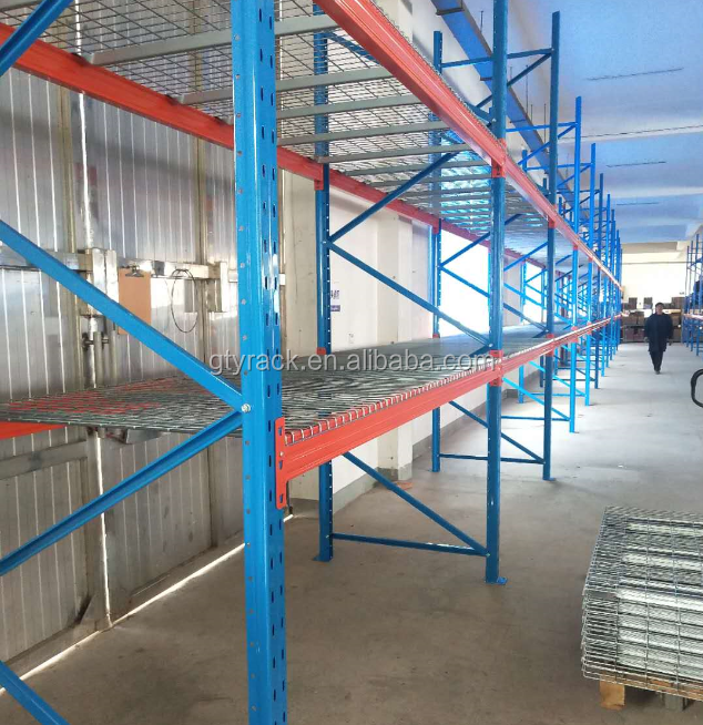 CE certification storage racking heavy scale wire mesh pallet rack