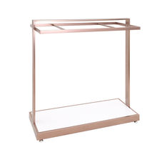 Garment Shop Fittings Copper Gold Display Hanging Rack for Clothing Store