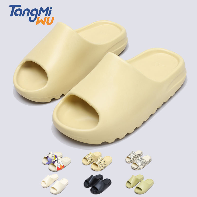 TMW High Quality Luxury Sport Brand Summer Men Slippers Plain Blank Rubber Yeeze Yezzy Yeezy Slides