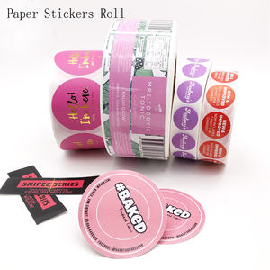 Custom Self Adhesive Round Design Logo Printed Custom Made Stickers Roll Labels