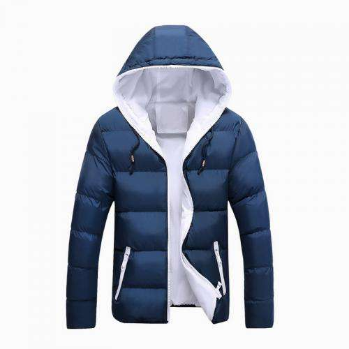 in stock polyester zipper filling artificial cotton fashion winter new design mens jackets parka