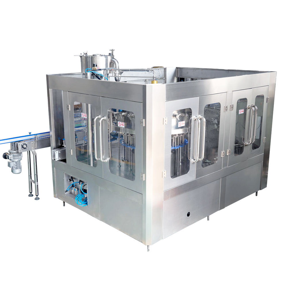 Automatic bottle water/ juice/ carbonated drink beverage filling packing machine production line