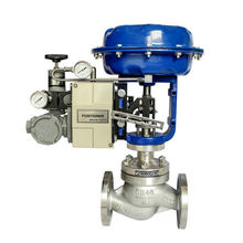 ANSI Flange Class 150 Pneumatic Modulating Valve Stainless steel 304 with 4-20mA Positioner