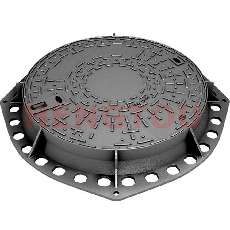 Drainage Round Cast Iron En124 B125 Ductile Iron Recessed Manhole Cover