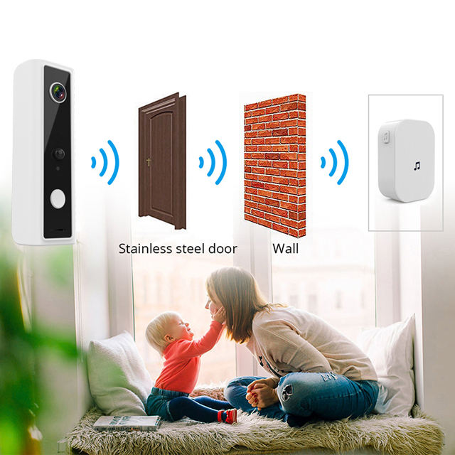 VK-DB01-TY Support 128G TF Card recording 1/2.7 CMOS Tuya Powered Wireless Battery Video Doorbell