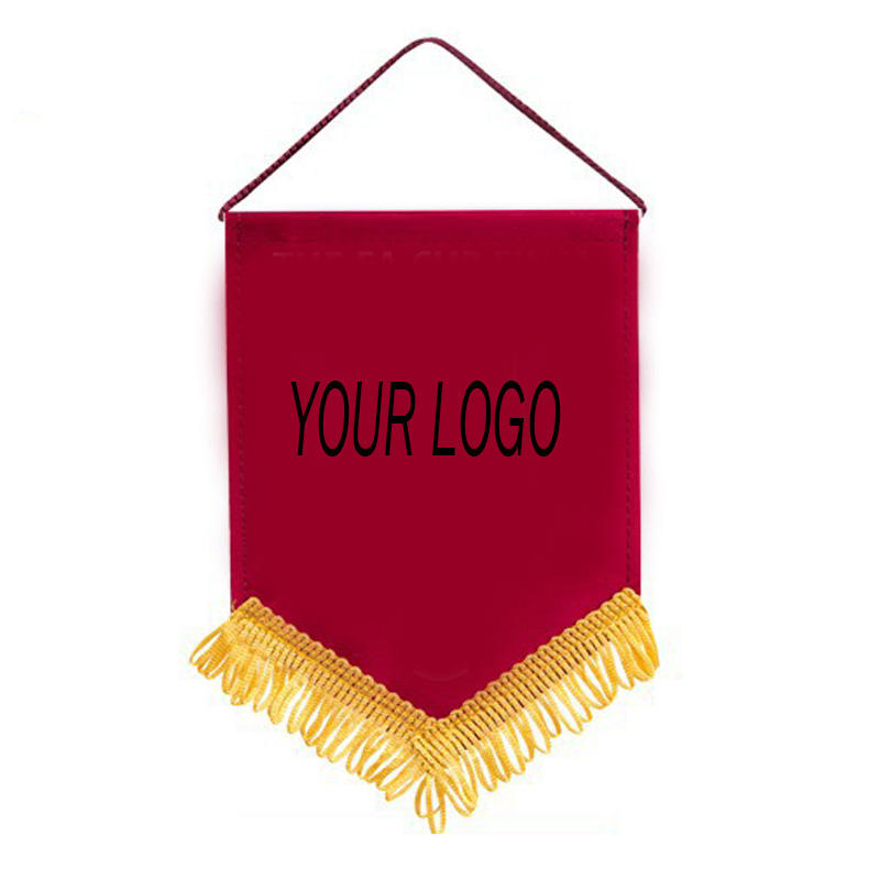 New Design Football Club Exchange Flag Pennant Flags With Tassels Printed Felt Banner For Your Event
