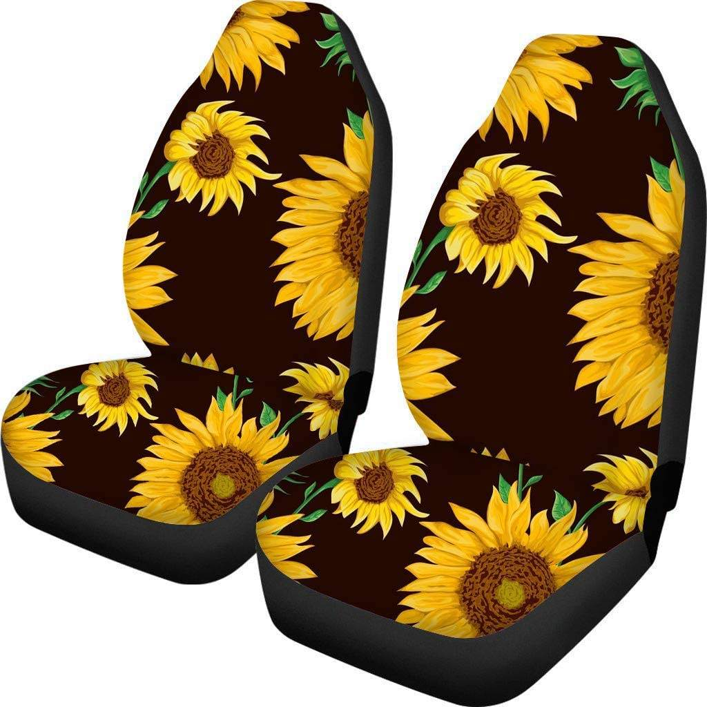 Sunflower Car Seat Covers Trendy Sunflower Pattern for Women Girls Car Seat Cover Protector Case Fit for All Car Full Set of 2