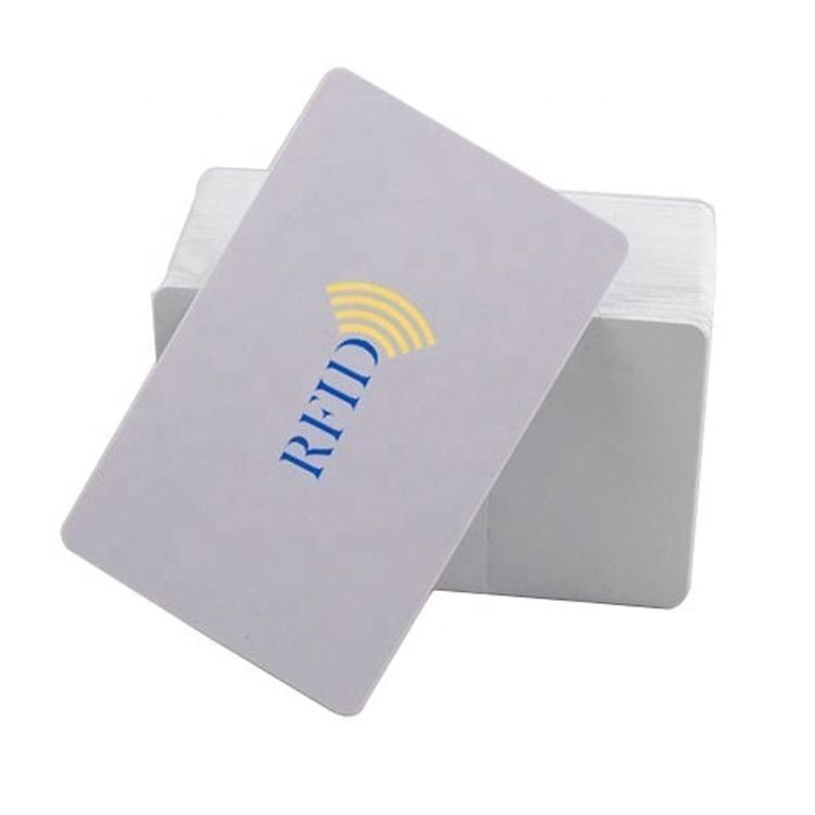 CT-019 wholesales CR80 Standard size Printable Fudan 1k Blank PVC RFID Chip card